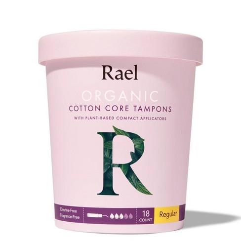 Rael Organic Cotton Regular Compact Tampons - 18ct - image 1 of 3
