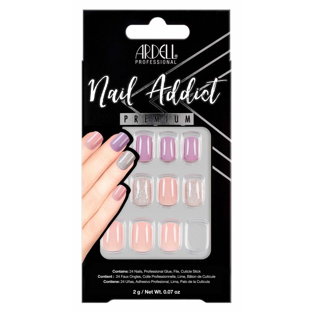 Ardell Nail Addict False Nails Pastel Pink 38 Purple 24ct