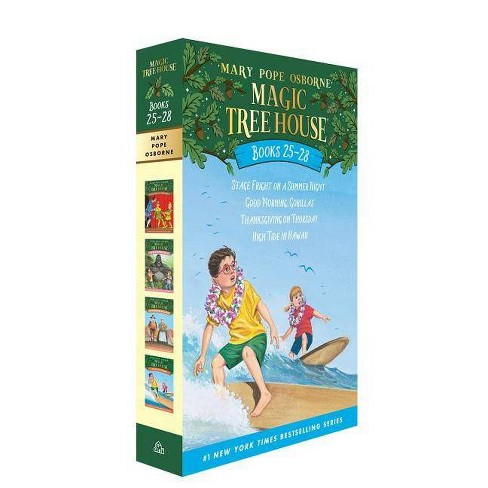 Magic Tree House Volumes 25-28 Boxed Set - (Magic Tree House (R)) by  Mary Pope Osborne (Paperback) - image 1 of 1