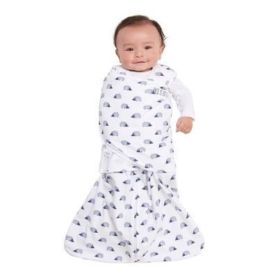 HALO Sleepsack 100% Cotton Swaddle Hedgehog - Navy Newborn