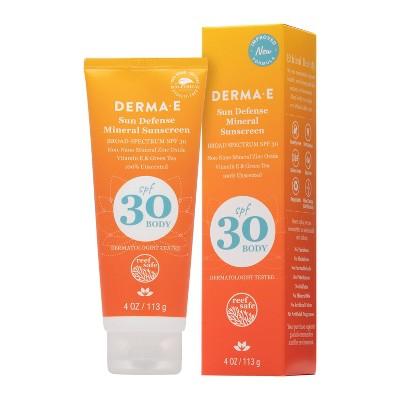 DERMA E Sun Defense Mineral Body Sunscreen - SPF 30 - 4oz