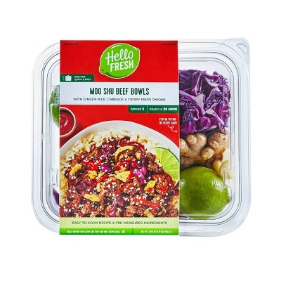 HelloFresh Moo Shu Beef Bowls With Ginger Rice, Cabbage & Crispy Fried Onions Meal Kit - 27.51oz