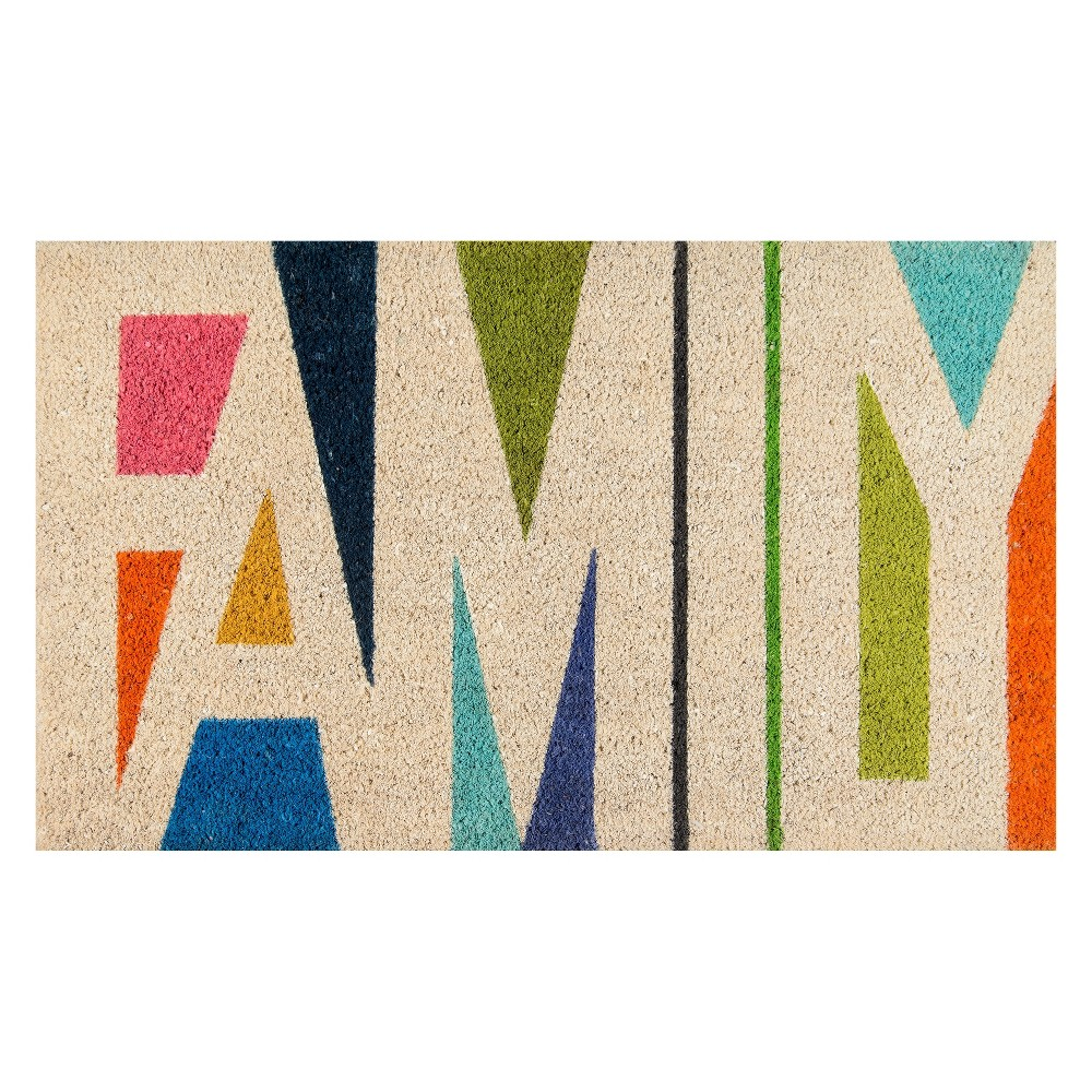 "Image of ""1'6""""x2'6"""" Quote Woven Door Mat - Novogratz By Momeni, Multi-Colored"""