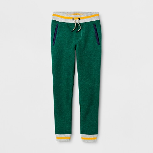 Boys' Jogger Pants - Cat & Jack™ Green - image 1 of 2