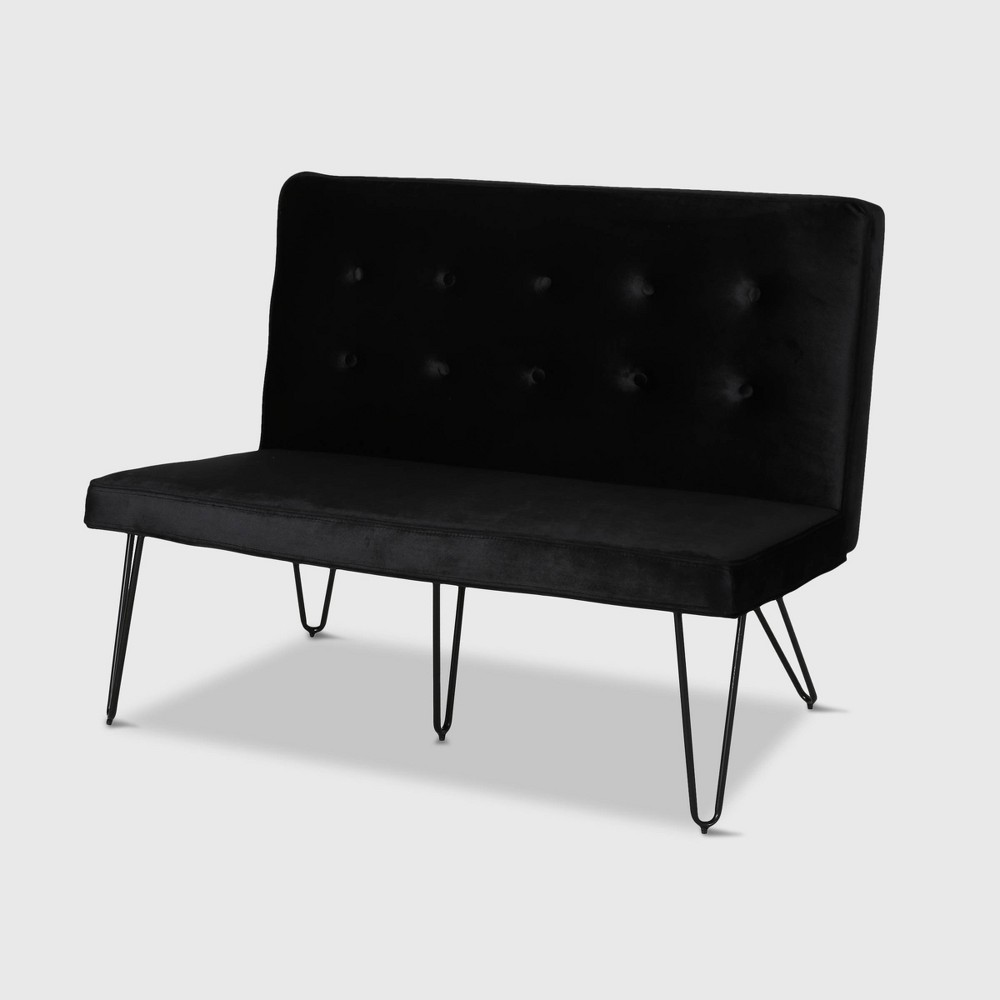 """Reviews 47"""" Chequeset Minimalist Bench Settee  - Christopher Knight Home"""