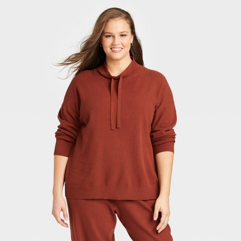 Women's Plus Size Cowl Neck Pullover Sweater - Ava & Viv™  - image 1 of 3