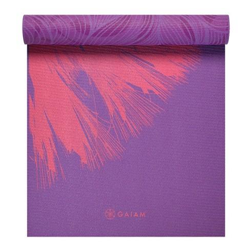 Gaiam Premium Reversible Yoga Mat - Purple Flower Print (6mm)   Target a25f18a22fc9