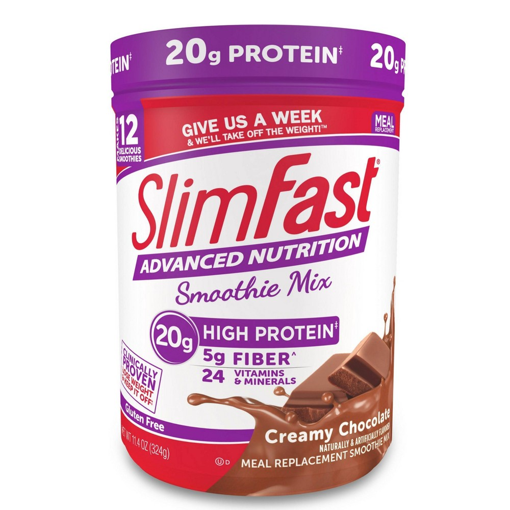 SlimFast Advanced Nutrition High Protein Smoothie Mix - Creamy Chocolate - 11.4oz