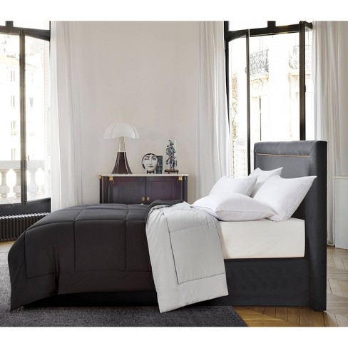 Reversible Microfiber Down Alternative Comforter - Blue Ridge Home Fashions - image 1 of 4