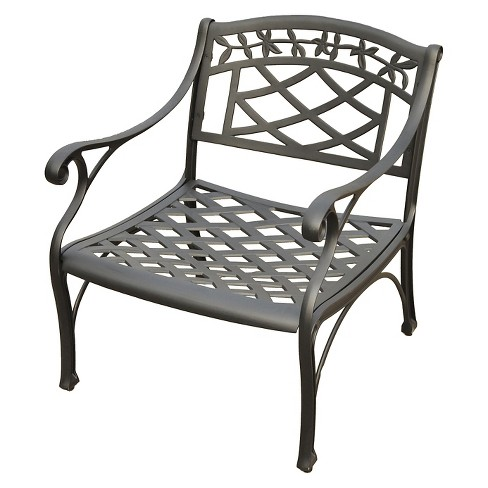 Crosley Sedona Cast Aluminum Club Chair in Charcoal Black Finish - image 1 of 2