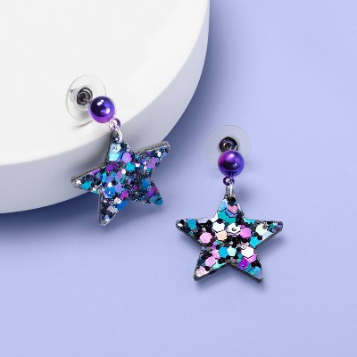 Girls' Sequin Star Earrings - More Than Magic™