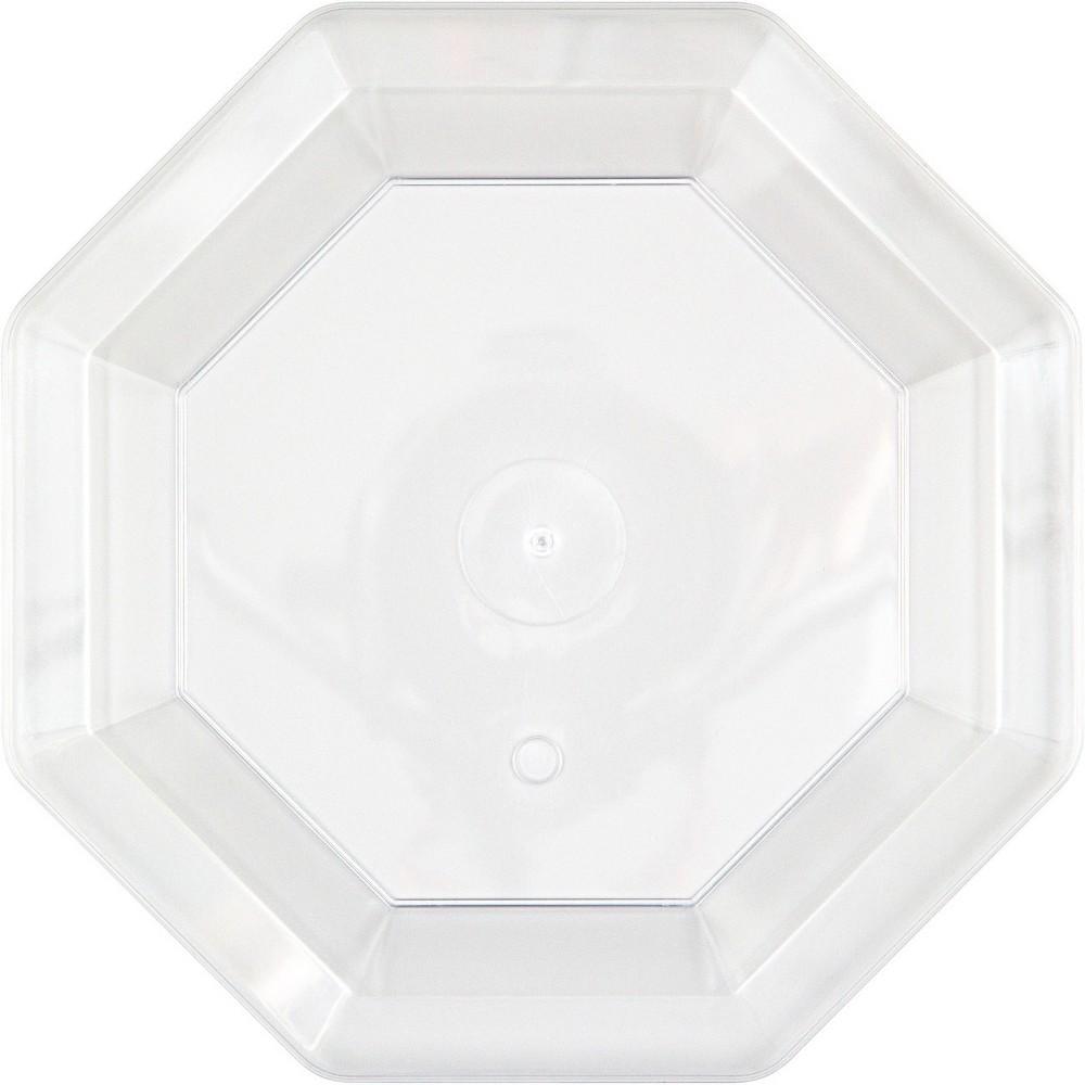 8ct Clear Banquet Plates Octagonal