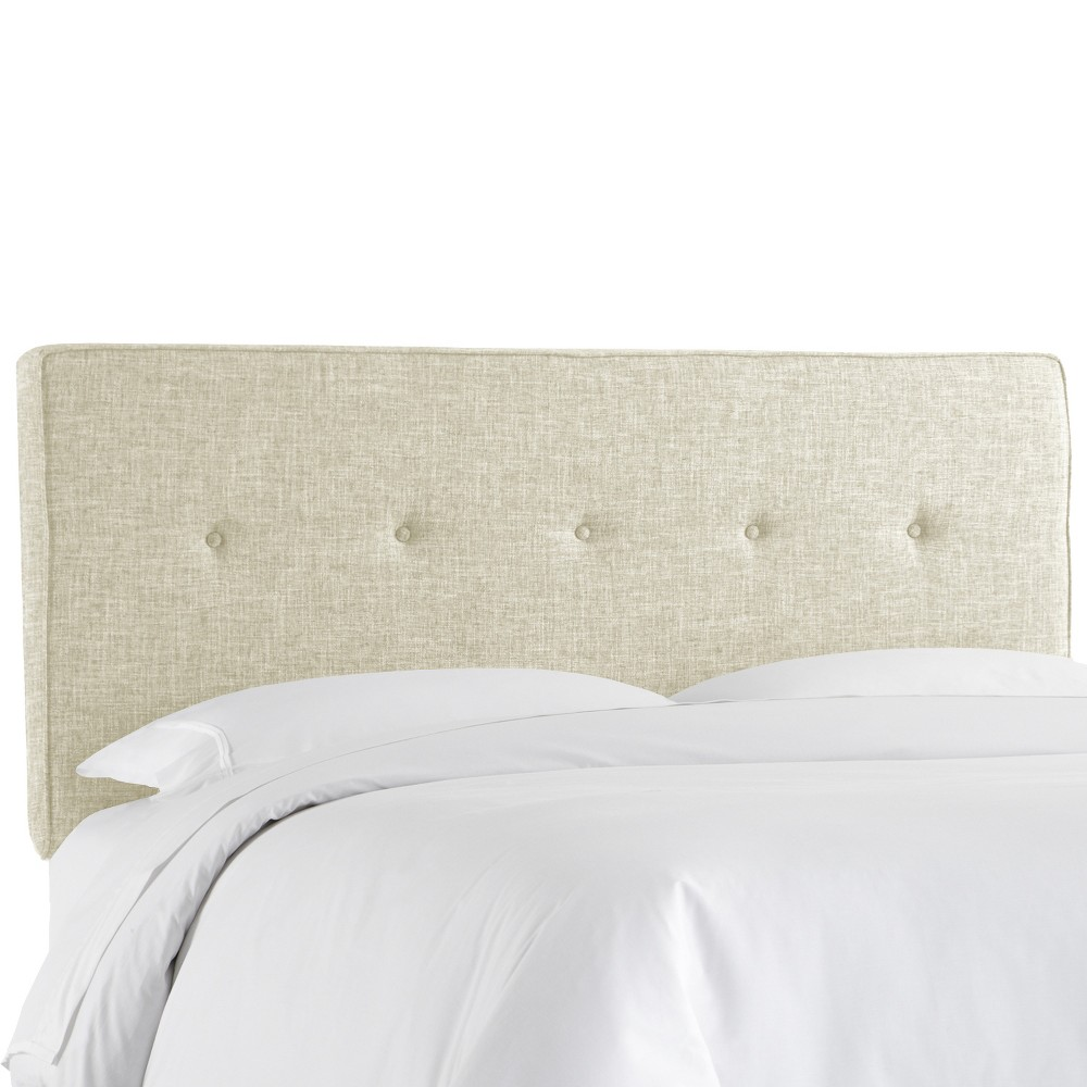 Queen Five Button Headboard Vanilla - Project 62 Coupons