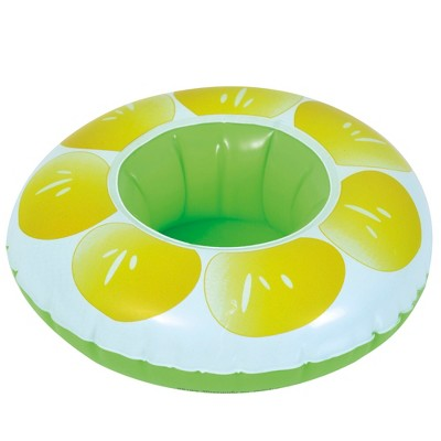 """Pool Central 9"""" Inflatable Lemon Slice Swimming Pool Beverage Drink Holder"""