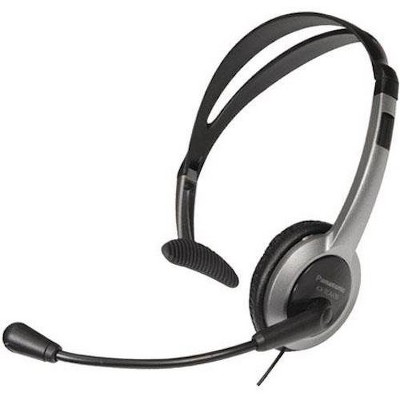 Panasonic KX-TCA430 Wired Headset - 4 ft Cord length - Volume control & mute button - Adjustable noise-cancellation - Reversible & fold-able Headset