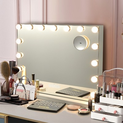 Costway Hollywood Vanity Lighted Mirror Touch Control Magnification  Speaker
