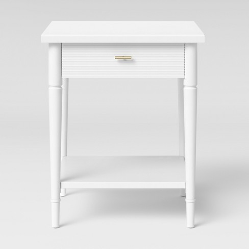 Cambridge Turned Leg End Table White - Threshold™ - image 1 of 4
