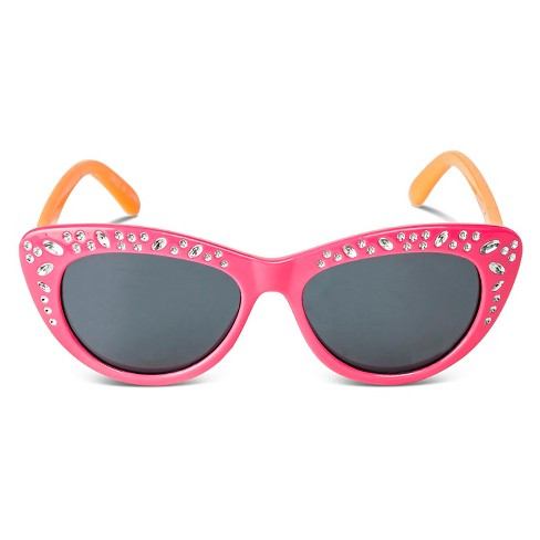 Girls' Cateye Sunglasses - Pink One Size - image 1 of 1