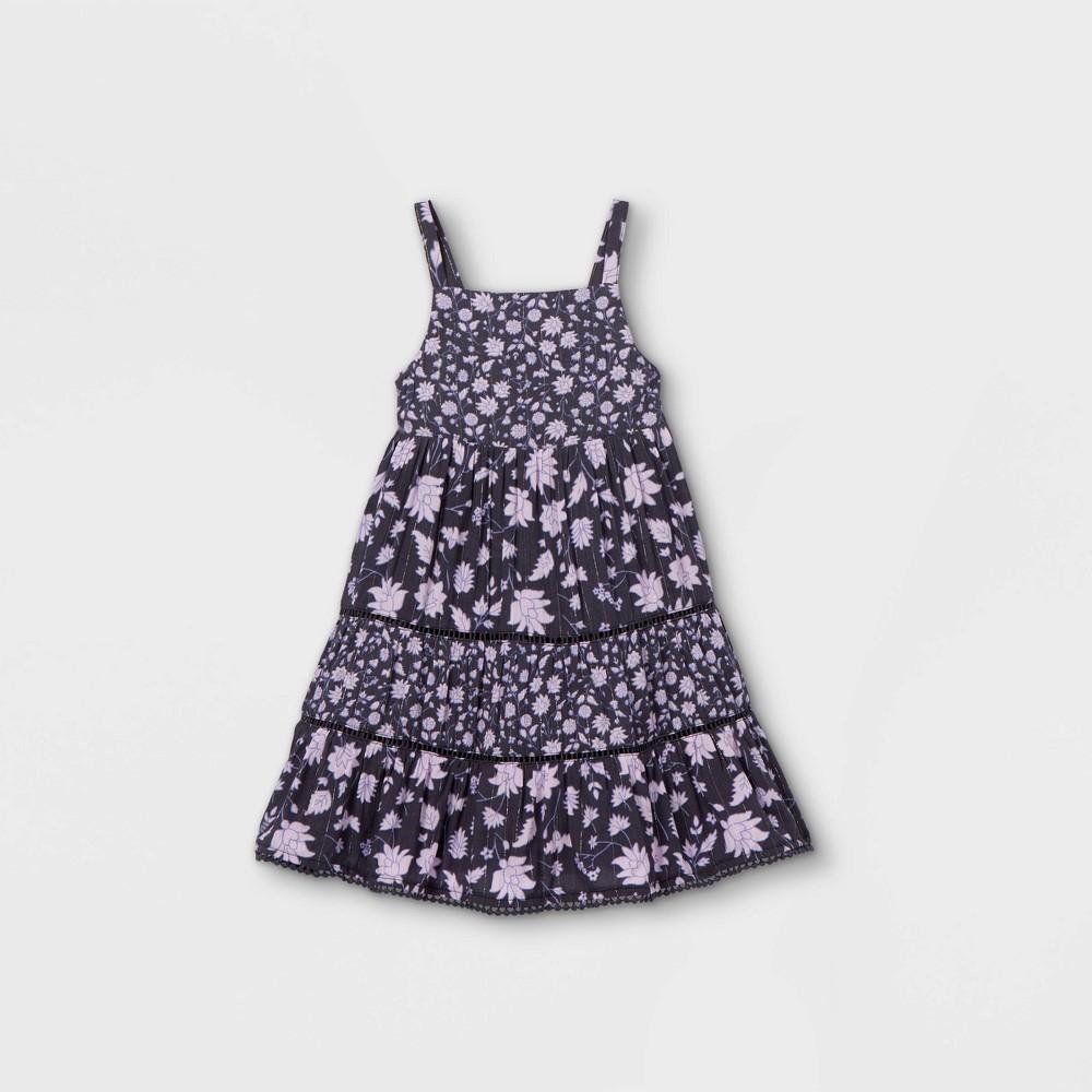 Toddler Girls 39 Floral Tiered Tank Dress Cat 38 Jack 8482 Navy 3t