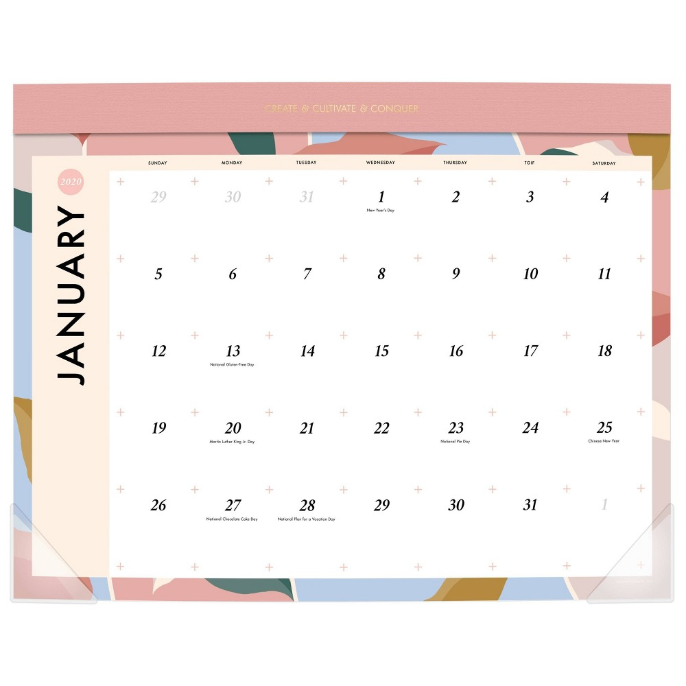 Image of 2020 Large Desk Calendar White - Create & Cultivate