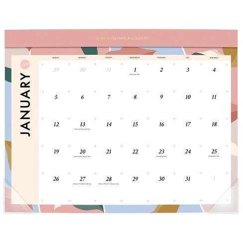 2020 Large Desk Calendar White - Create & Cultivate - image 1 of 4