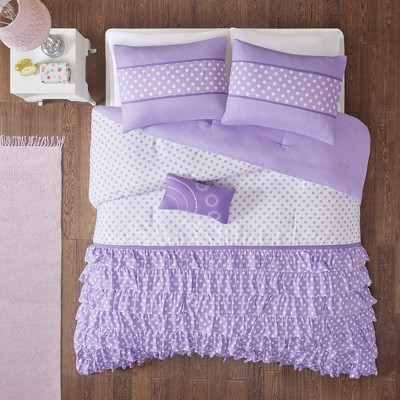 Purple Lindsey Comforter Set