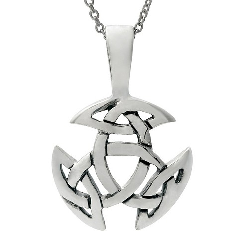 "Women's Journee Collection Celtic Triskel Pendant Necklace in Sterling Silver - Silver (18"") - image 1 of 2"