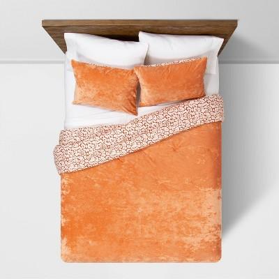 Rust Reversible Velvet Leopard Print Comforter & Sham Set - Opalhouse™
