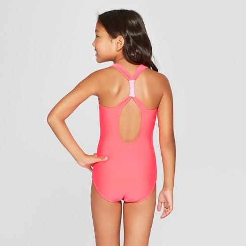 249a2048533 Girls  One Piece Swimsuit - Cat   Jack™ Pink XL Plus   Target