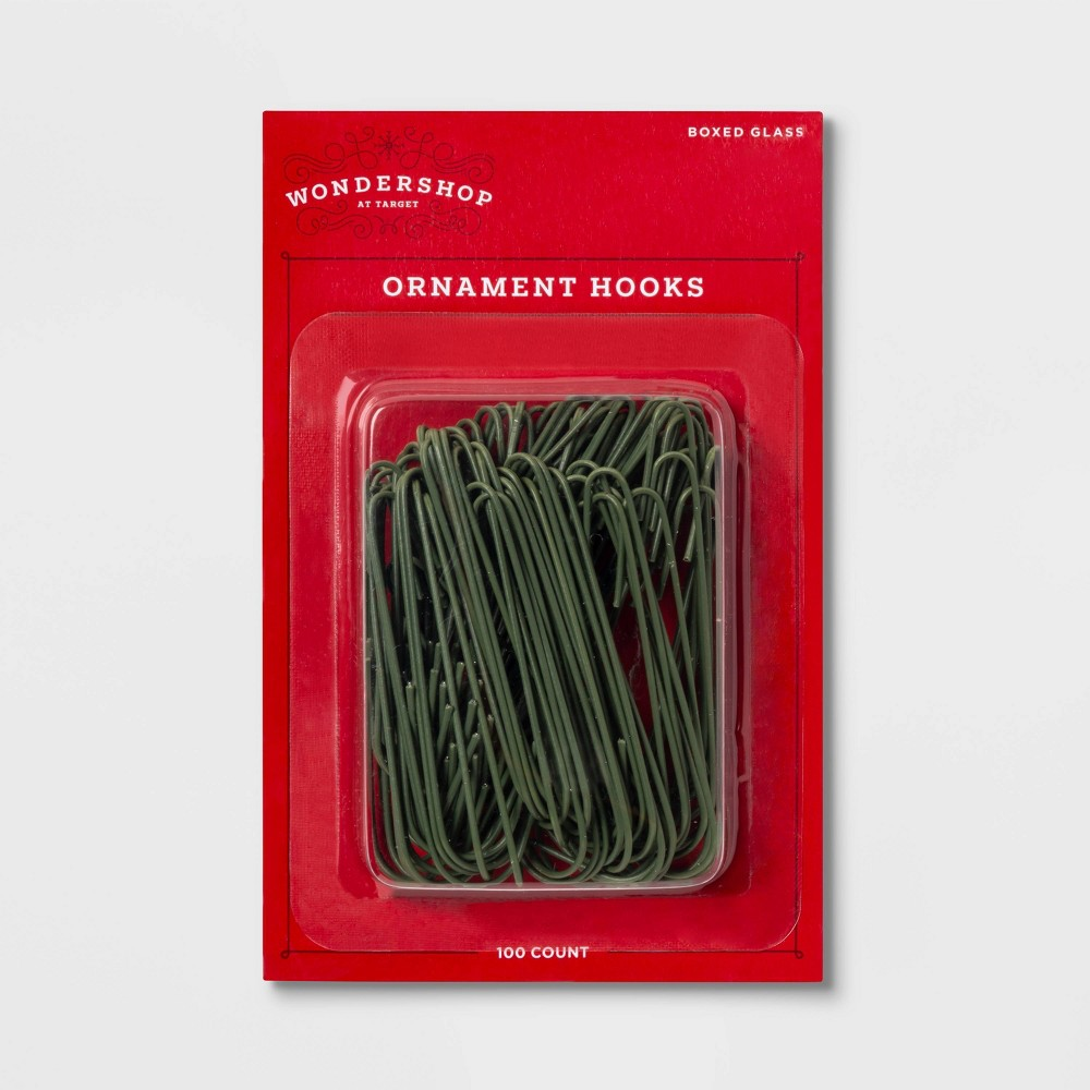 Image of 100ct Ornament Hooks - Wondershop , Green