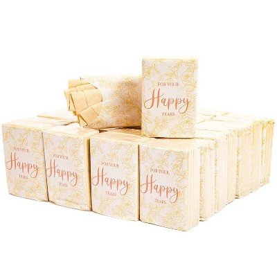 Sparkle and Bash 60-Pack For Your Happy Tears Travel Pocket Facial Tissue Packs