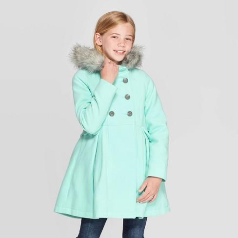 Aqua Green Small 6//6x NEW Cat /& Jack Girls/' Down Puffer Jacket