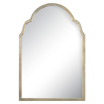 Rectangle Brayden Petite Arch Decorative Wall Mirror Silver - Uttermost