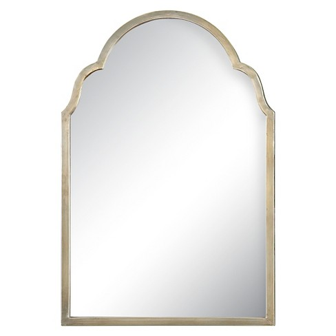 Rectangle Brayden Petite Arch Decorative Wall Mirror Silver Uttermost