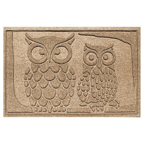Bungalow Flooring Aqua Shield Owls Floormat - image 1 of 2