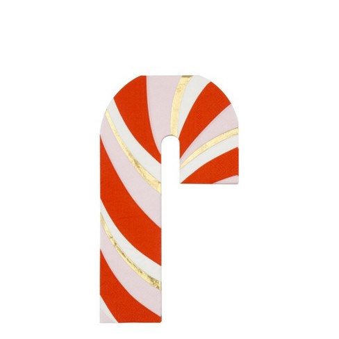 Meri Meri - Candy Cane Napkin - Disposable Napkins - Christmas - 16ct - image 1 of 2