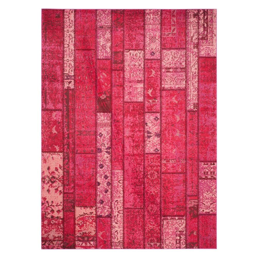 8'X11' Geometric Area Rug Pink - Safavieh, Pink/Multi-Colored