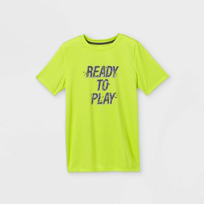 Boys' Short Sleeve 'Ready to Play' Graphic T-Shirt - All in Motion™ Green