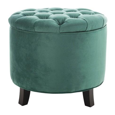 Phenomenal Nelson Storage Ottoman Light Green Safavieh Short Links Chair Design For Home Short Linksinfo