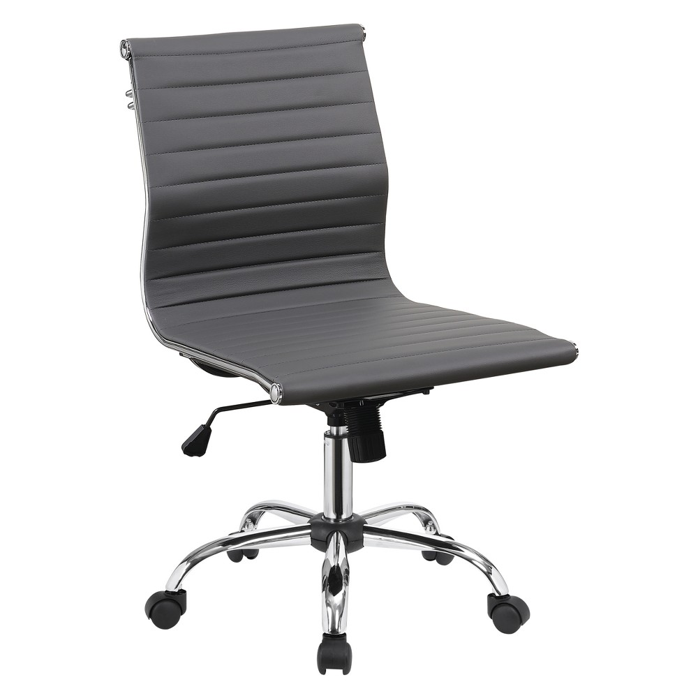 Iohomes Lukes Contemporary Leatherette Office Chair Gray - Homes: Inside + Out