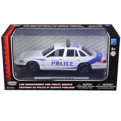 1998 Ford Crown Victoria Unmarked Blank White Police Car 1/24 Diecast Model Car by Motormax - image 1 of 1