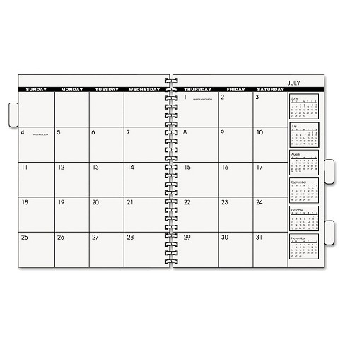 at a glance three five year monthly planner refill 9 x 11 white