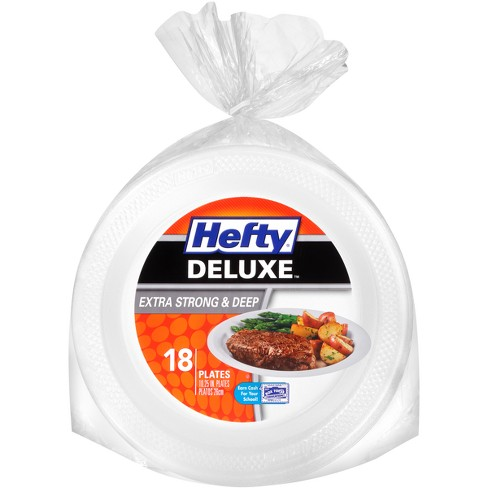Hefty Deluxe Extra Strong & Deep Disposable Plates - 18ct - image 1 of 4