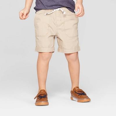 Toddler Boys' Twill Pull-On Shorts - Cat & Jack™ Khaki 3T