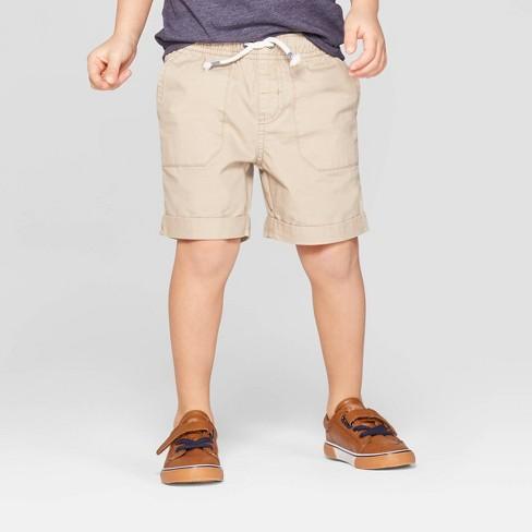 06ed525882bd Toddler Boys  Twill Pull-On Shorts - Cat   Jack™ Khaki   Target