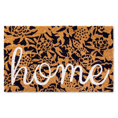 Doormat Floral Home - Navy - (1'6 x2'6 )- Threshold™
