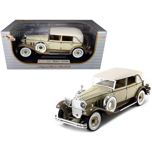 1930 Packard Brewster Tan and Coffee Brown 1/18 Diecast Model Car by Signature Models - image 1 of 1