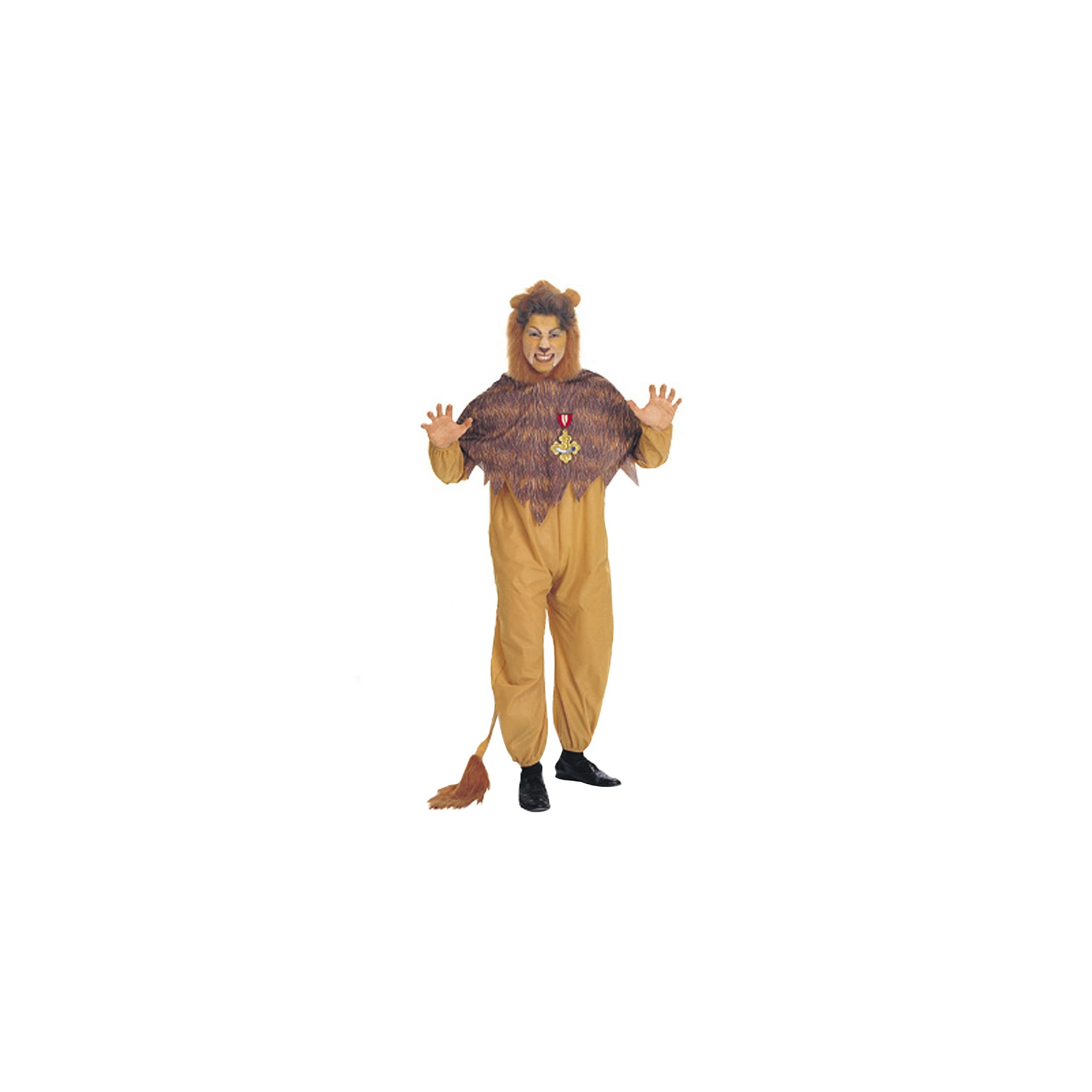 Halloween The Wizard of Oz Men's Cowardly Lion Costume One Size