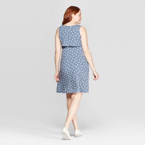 e02cc879c17 If you missed my stories on this dress, it's a super comfortable NURSING  dress! The fabric is a thicker stretchy cotton feel and I love the ...