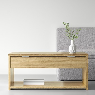 Coffee Table With Drawer Natural   Made By Design™ : Target
